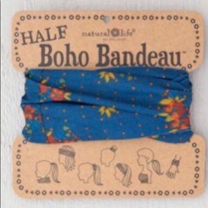 Natural Life Half Boho Headband Bandeau OrangeBlue